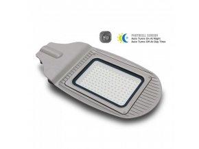 18827 vt 15031st 30w led streetlight with sensor colorcode 4000k grey body grey glass