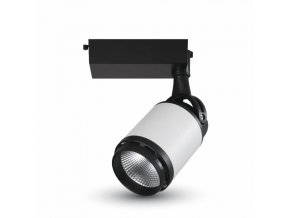 19235 vt 4528 25w led tracklight colorcode 3000k black white body