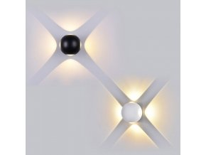 19448 vt 834 4w led wall light round colorcode 3000k ip65 black body