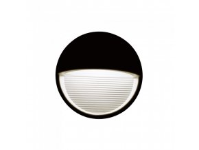 19547 vt 1182 3w led step light colorcode 3000k black body round