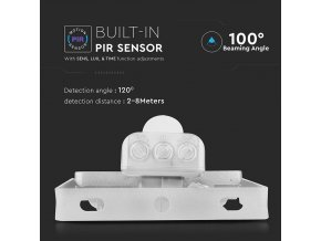 10W LED reflektor se senzorem SMD, SAMSUNG chip