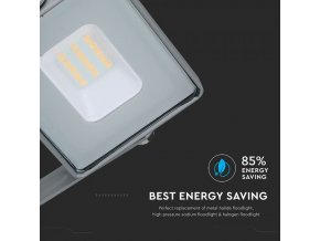 10W LED reflektor (800lm), SAMSUNG chip, šedý
