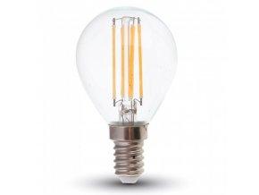 20201 4 e14 led filament zarovka 4w 320lm p45 stmivatelna 2700k