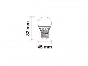 E27 LED žárovka 5,5W, G45, CRI> 95