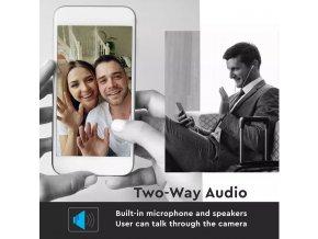 WiFI 720P IP 2-cestná audio kamera, noční režim