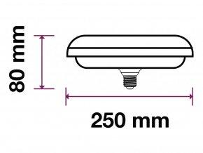 E27 Led Žárovka 36W Ufo Lampa (Barva světla Studená bílá)