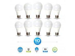 E27 Led Žárovka 15W, A65, Balení 10 Kusů (Barva světla Studená bílá)