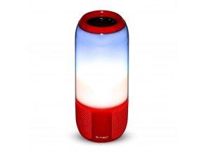 Bluetooth Reproduktor s RGB+W LED světlem, červený