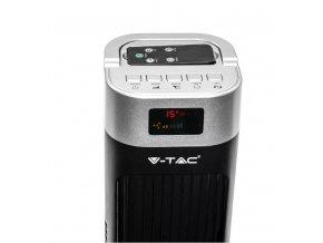 55W   sloupový   ventilátor   120cm  s  ukazatelem  teploty  a  dálkovým   ovládáním, černý