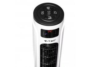 55W   sloupový   ventilátor   120cm  s  ukazatelem  teploty  a  dálkovým   ovládáním, bílý