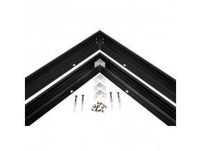 20630 1 kryt pro uchyceni led algine line panelu 60x60cm cerny