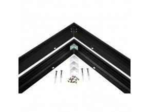 Kryt pro uchycení LED Algine Line panelu, 60x60cm, černý