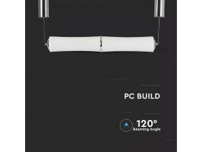 LED Designer Lustr 32W (2100LM), bílý, 3000K