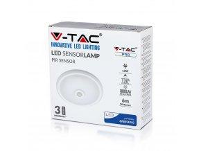LED DOME LIGHT stropní / nástěnné svítidlo se senzorem, 12W (800lm), Samsung chip