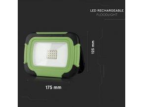 10W LED přenosný reflektor, dobíjecí (700Lm), SAMSUNG chip, 6400K