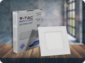 6W LED vestavěný panel s napájecím zdrojem, čtvercový (420lm), samsung chip (Barva světla Studená bílá 6400K)