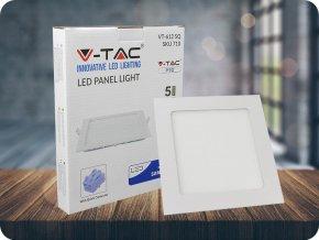 12W LED vestavěný panel s napájecím zdrojem, čtvercový (1000lm), samsung chip