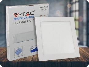 18W LED vestavěný panel s napájecím zdrojem, čtvercový (1500lm), samsung chip