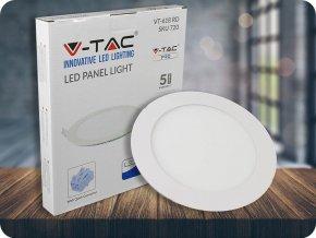 18W LED vestavěný panel s napájecím zdrojem, kulatý (1500Lm), SAMSUNG chip (Barva světla Studená bílá 6400K)