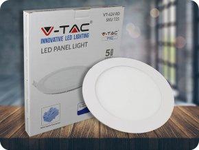 24W LED vestavěný panel s napájecím zdrojem, kulatý (2000Lm), SAMSUNG chip