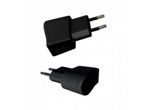 USB cestovní adaptér, černý