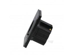 Zásuvka ovládaná WIFI, černá, kompatibilní s AMAZON ALEXA + GOOGLE HOME