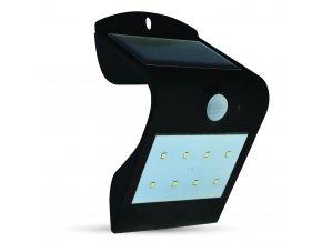 Solární Svítidlo Nástěnné 1,5W, Černé, Ip65  + Zdarma záruka okamžité výměny!