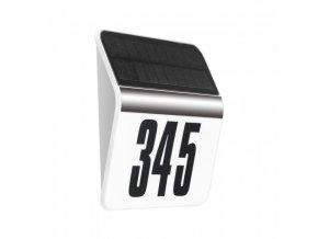 20921 4 solarni led svitidlo pro oznaceni adresy samsung chip 5lm 3000k ip44 pir bile