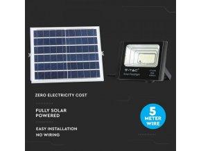 Solární panel se solárním reflektorem, 16W, 1050lm, IP65, 10000mAh, 6000K