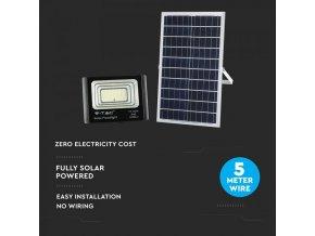 Solární panel se solárním reflektorem, 35W, 2450lm, IP65, 15000mAh, 6000K