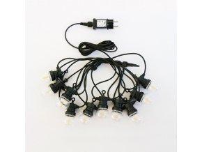 LED světelný řetěz, 5m, 10x0,4W, 350lm, IP44 3000K