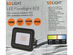 LED REFLEKTOR ECO 10W, 650lm, 4000K, ČERNÝ