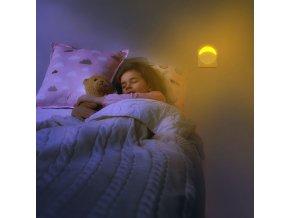 LED noční světlo 0,45W do zásuvky, kruhové, SAMSUNG chip (Barva světla Neutrální bílá)