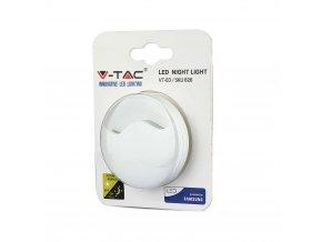 LED noční světlo 0,5W do zásuvky, kruhové, SAMSUNG chip (Barva světla Neutrální bílá)