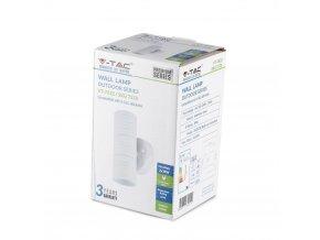 Nástěnné LED svítidlo 2xGU10, UP & DOWN, nerezová ocel, bílé, IP44