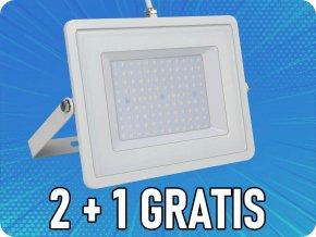 Led Reflektor 100W, 8500 lm, Bílý, 2+1 zdarma!