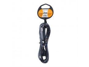 Flexo kabel 2x0,75mm, 2m, černý, vypínač
