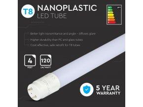 LED TRUBICE T8, 18W, 120CM, G13, (2250LM), SAMSUNG CHIP, NANO plast, 15+10 zdarma!