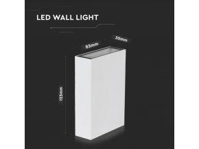 LED nástěnné svítidlo obdélníkové, 4W, 150lm, 41°, IP65, bílé (Barva světla Studená bílá 6500K)