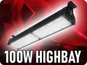 Lineární průmyslový LED reflektor (HighBay), 100W, 9000lm, samsung chip (Barva světla Studená bílá 6400K)