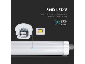 LED VODĚODOLNÉ SVÍTIDLO 24W, 3840LM (160LM/W), G-SERIES, 120CM (Barva světla Studená bílá 6400K)