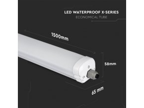 LED voděodolné svítidlo 32W, 5120lm (160lm/W), WP X- series, 150cm