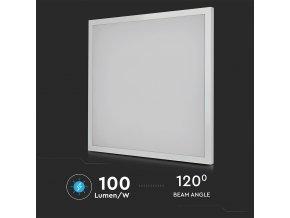 LED PŘISAZENÝ PANEL s napájecím zdrojem 40W (3200lm), ČTVERCOVÝ, 595x595mm (Barva světla Studená bílá)