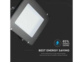 500W LED reflektor, 120lm/W, (60000lm) černý, Samsung chip (Barva světla Studená bílá 6400K)