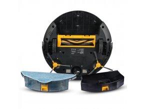 Robotický vysavač 1800PA, nabíjení 5 hod, 14,4V, 2500mAh, výdrž 100 min, černý