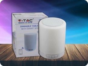 Lampička S Bluetooth Reproduktorem Rgb+W S Dotekovým Ovládáním Bílá  + Zdarma záruka okamžité výměny!