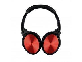 BlueTooth sluchátka bezdrátové 500mAh, červené, 2-3H nabíjení, max 10h výdrž