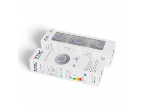 Balení 3 x rám na GU10, bílý, 3 x LED žárovka, 5W (Barva světla Studená bílá 6400K)