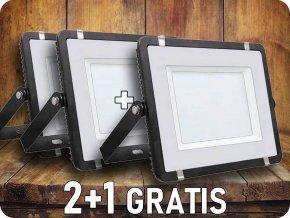LED REFLEKTOR 150W, SAMSUNG CHIP,12000LM, ČERNÝ, 3+1 zdarma!