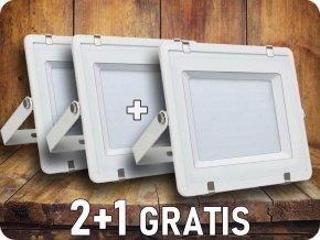 LED REFLEKTOR 150W, SAMSUNG CHIP, 12000LM, BÍLÝ, 3+1 zdarma!